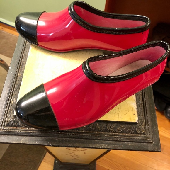 Practically New Red Rain Booties